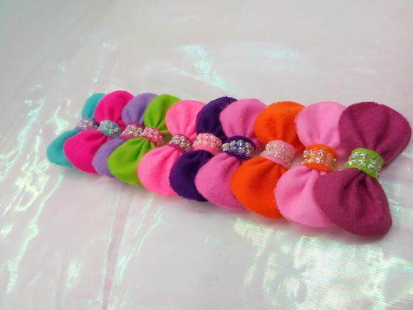 Laços pet g - feltro color/ banho e tosa
