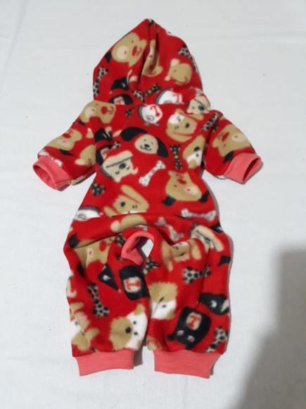 Macacão roupa soft pijama casaco frio cão gato pet barato