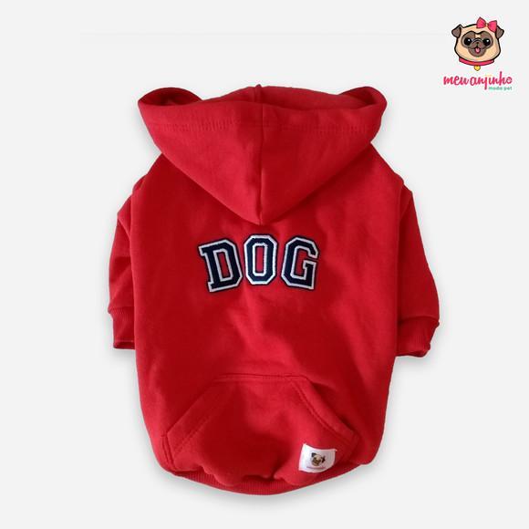 Moletom pet dog vermelho - tam g