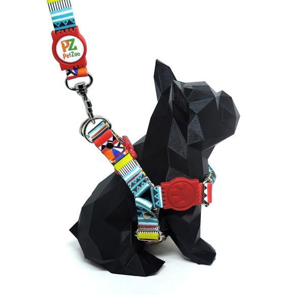 Peitoral e guia para lhasa apso - modelo afrika