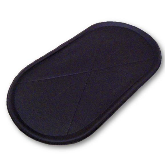 Porta comedouro couro cachorro/gato 53x29 -cor preta