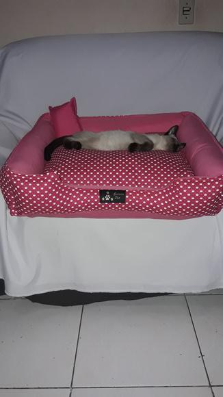 Cama caminha pet cachorro gato n3 60cmx60cm um luxo lavavel