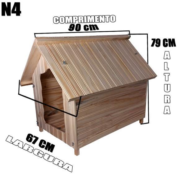 Casa madeira para cachorro n4