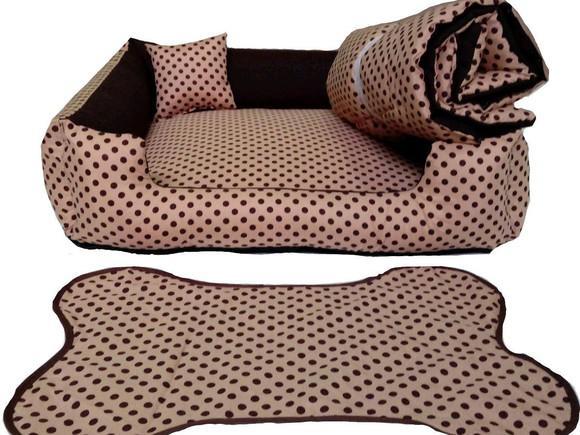 Kit cama pet grande 70 x 70 + edredom pet+ tapete