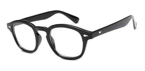 Armação de óculos grau estilo johnny depp tortoise