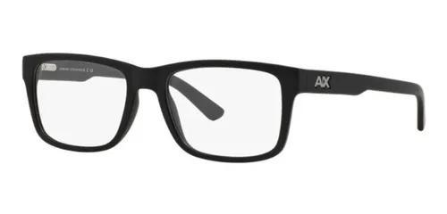 Armação oculos grau armani exchange ax3016 8078 preto