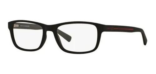 Armação oculos grau armani exchange ax3021 8078 preto