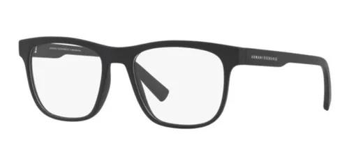 Armação oculos grau armani exchange ax3050 8078 preto