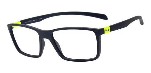 Armação oculos grau hb polytech 9313662633 azul fosco