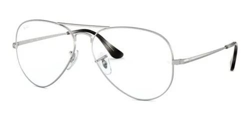 Armação oculos grau ray ban aviador rb6489 2538 58 prata