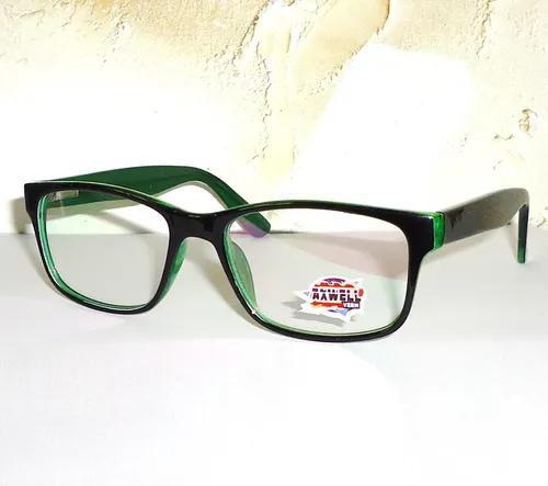 Armação para óculos grau preto com verde próprio para