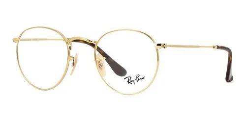 Armação óculos de grau ray ban rb3447v 2500 redondo