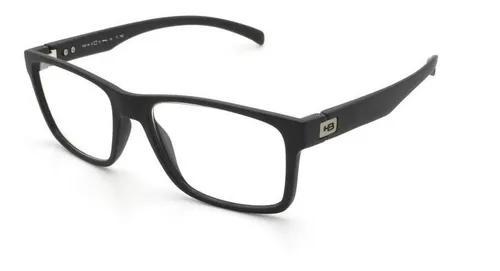 Armação óculos grau hb 93108 762 preto fosco - original