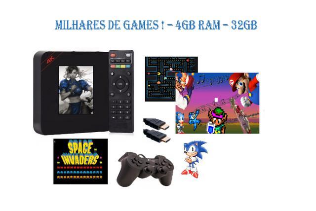 Game box retrô - 4/32gb - milhares de jogos