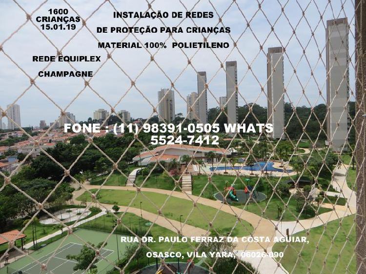 Instalação de redes de proteção em osasco, rua dr. paulo