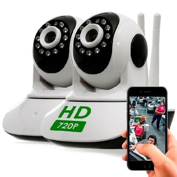 Kit câmera segurança alarme residencial comercial ip sem