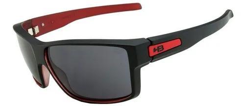 Oculos solar hb big vert matte black on red gray 9010980100