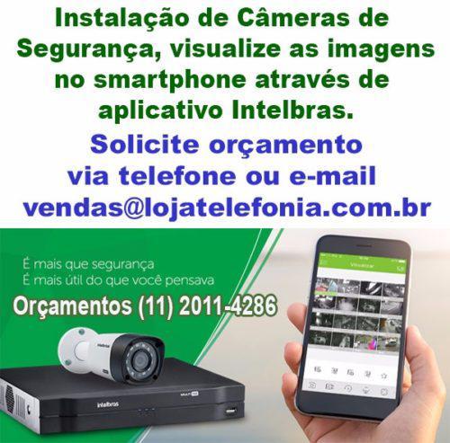 Orçamento de cameras de segurança digital intelbras