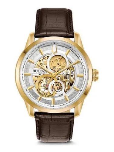 Relógio bulova masculino automático 97a138 esqueleto