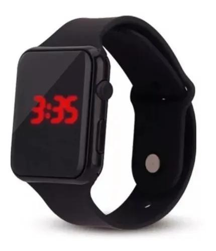Relógio led de pulso digital masculino f