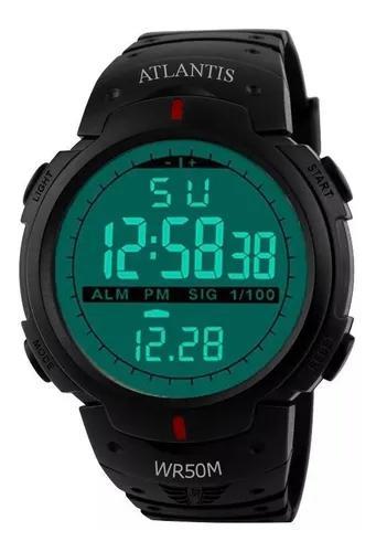 Relógio masculino esportivo cronômetro digital prova d
