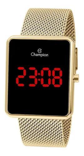 Relógio quadrado dourado ouro 18k original 1 ano de