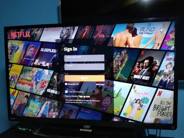 Tv toshiba 40 com acesso à internet