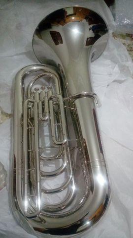 Tuba 4/4 Sib Weril J981 Niquelada Nova - Aceito trocas