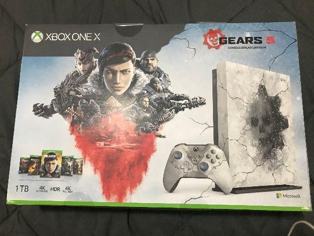 Xbox one x edição limitada gears of wars