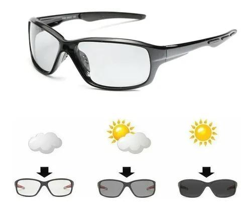 Culos sol pesca ciclismo polarizado fotocromáticas lentes