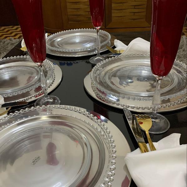 Jogo de jantar para 4 peças com 12 peças, extremo luxo!