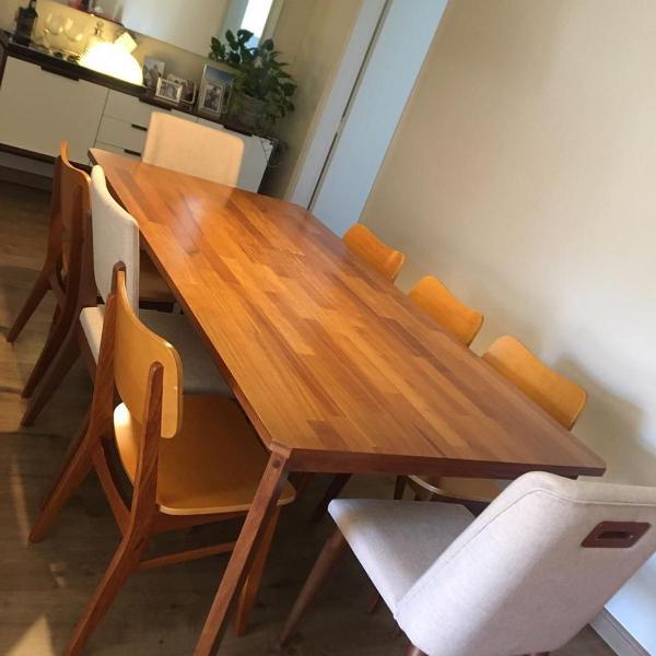 "Mesa (8 lugares) + cadeiras ""fernando jaeger"""