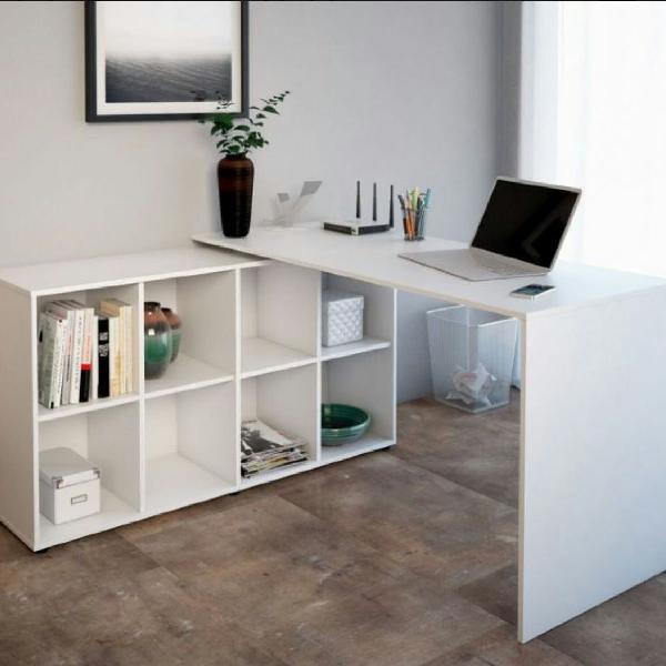 Mesa de escritório mdf, escrivaninha branca