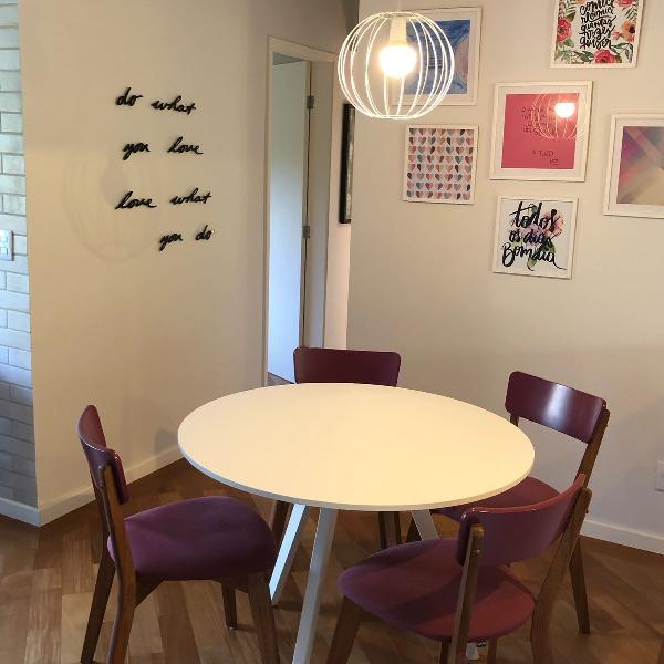 Mesa de jantar com 4 cadeiras oppa