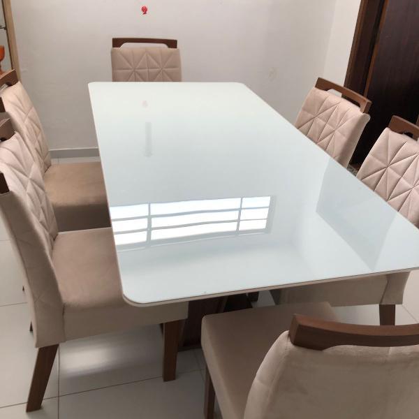 Mesa de jantar de 6 lugares