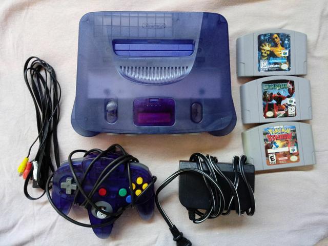 Nintendo 64 edicao sabores uva, troco