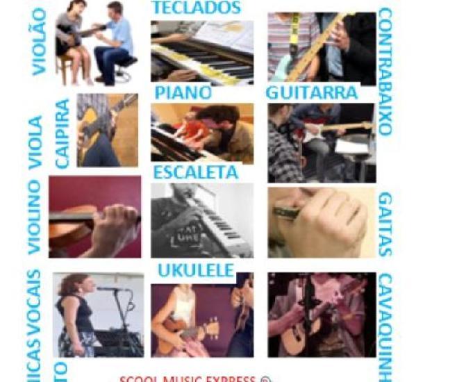 Aulas de instrumentos musicais & canto