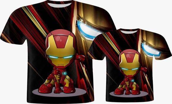Camisa pai e filho - herói de ferro cute