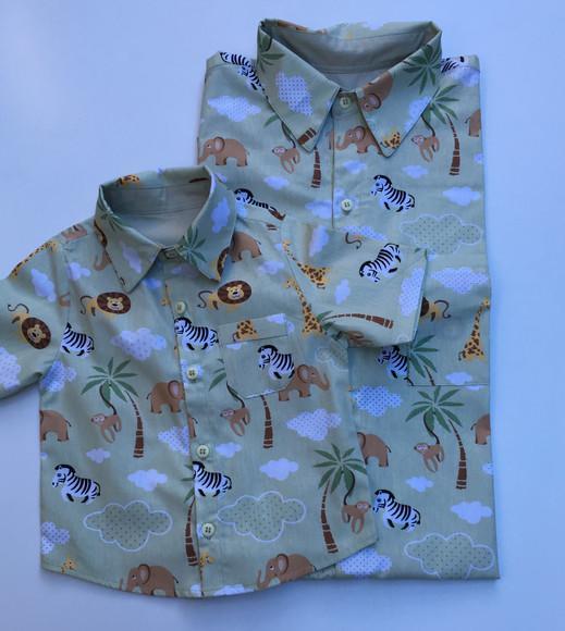 Camisa safari pai e filho