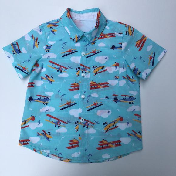Camisa pequeno aviador