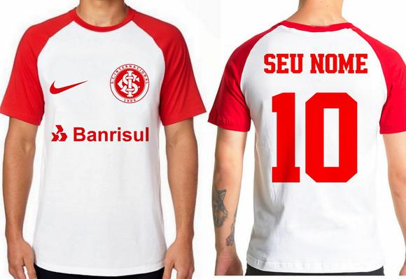 Camiseta blusa camisa personalizada nome inter internacional