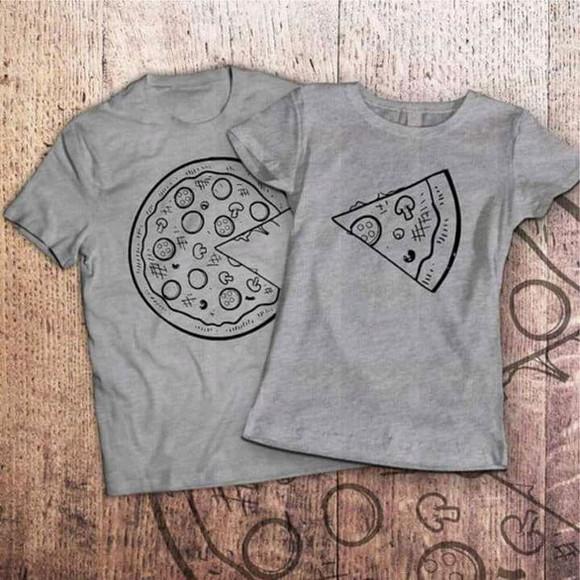 Camiseta casal pizza