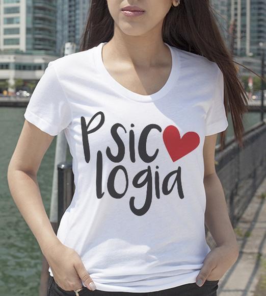 Camiseta feminina curso psicologia