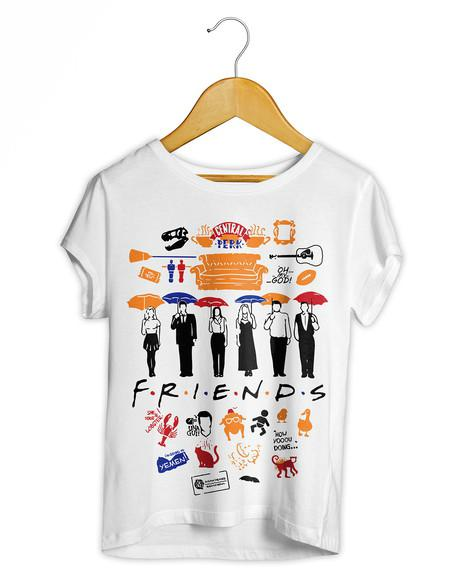 Camiseta feminina friends camisa baby look séries seriados