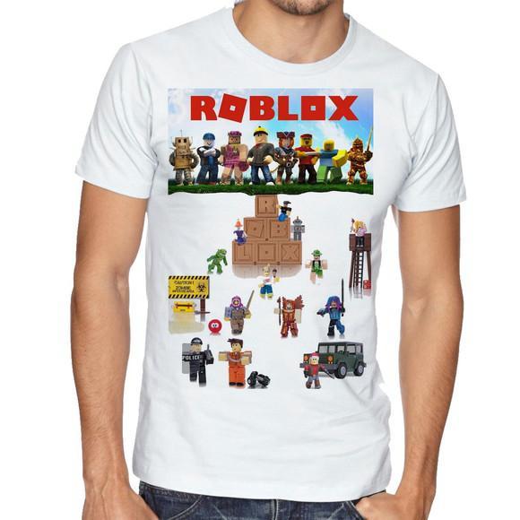 Camiseta infantil blusa criança roblox personagens
