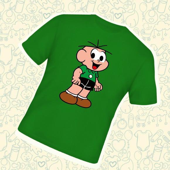Camiseta infantil cebolinha turma da monica c243vd