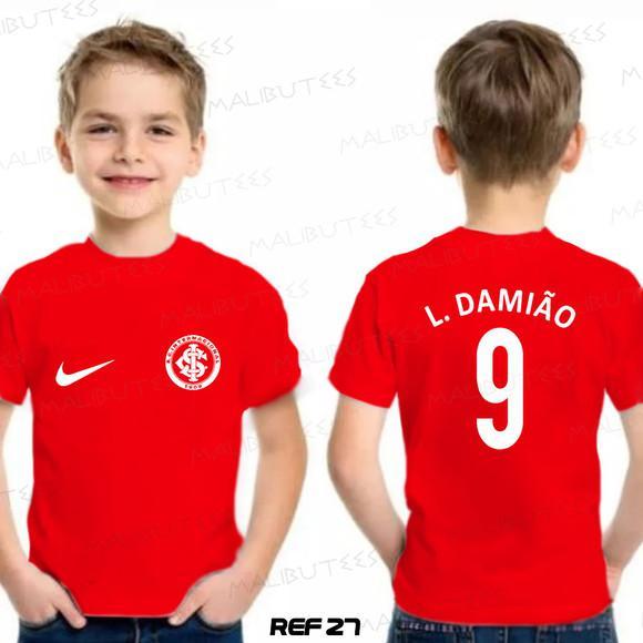 Camiseta infantil personalizada time internacional