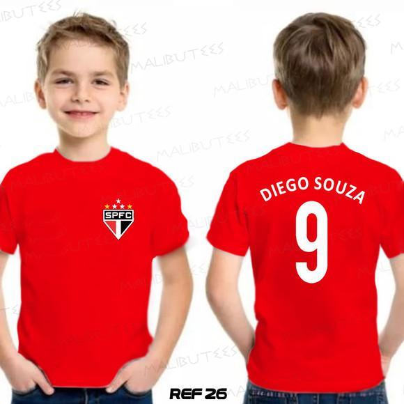 Camiseta infantil personalizada time são paulo
