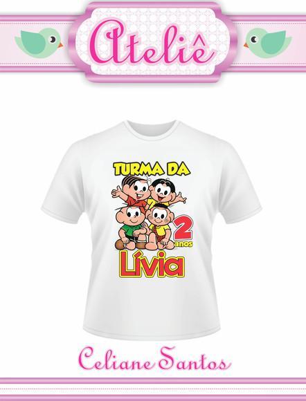 Camiseta infantil personalizada turma da mônica