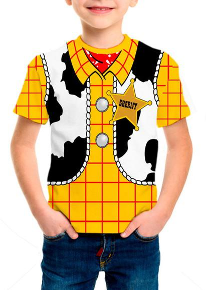 Camiseta infantil traje - woody toy story